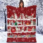 Wire Hair Fox Terrier - Christmas Blanket