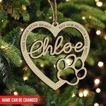 Your Wings Were Ready But Our Hearts Were Not, Personalized Pet Gift Engraved Christmas Ornament