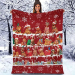 Vizsla - Christmas Blanket