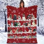 Pug - Christmas Blanket