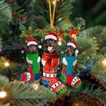 Rottweiler Christmas Socks Ornament