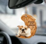 Bulldog Forever In My Heart Hanging Ornament-2D Effect