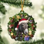 Donkey Christmas Gift Acrylic Ornament