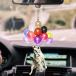 Husky Dog Fly With Bubbles Hanging Ornament-2D Effect