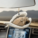 Wheaten Terrier Sleeping Angel - Hanging Ornament