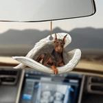 Brown dobermann sleeping angel brown dobermann lover dog mom ornament cus tjl
