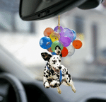 Dalmatian Dog Fly With Bubbles Car Hanging Ornament-2D Effect