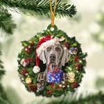 Weimaraner Christmas Gift Acrylic Ornament