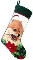 Pomeranian Christmas Stocking