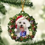 Maltese Christmas Gift Acrylic Ornament