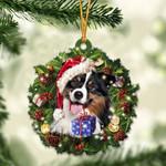 Australian Shepherd Christmas Gift Acrylic Ornament
