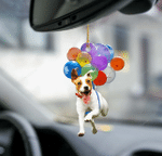 Jack Russell Terrier fly with bubbles dog hanging ornament-2D Effect