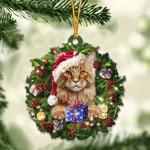 Maine Coon Christmas Gift Acrylic Ornament