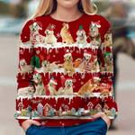 Golden Retriever - Snow Christmas - Premium Sweatshirt
