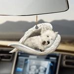West highland white terrier sleeping angel westie lovers dog lovers ornament