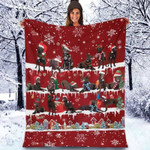 Australian Kelpie - Christmas Blanket
