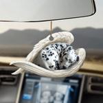 Dalmatian sleeping angel dalmatian lovers dog moms ornament