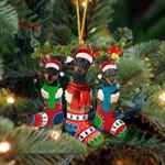 Miniature Pinscher Christmas Socks Ornament