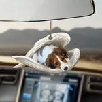 Nederlandse Kooikerhondje sleeping angel dog moms ornament cus tjl