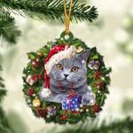 British Shorthair Christmas Gift Acrylic Ornament