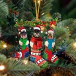 Schnauzer Christmas Socks Ornament