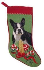 Boston Terrier Christmas Stocking