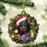 Dobermann Christmas Gift Acrylic Ornament