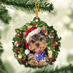 Yorkshire Terrier Christmas Gift Acrylic Ornament