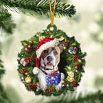 Pitbull Christmas Gift  Acrylic Ornament Cus