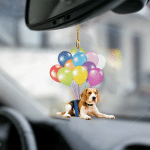 Beagle fly with bubbles dog hanging ornament-2D Effect