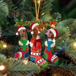 Azawakh Christmas Socks Ornament