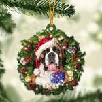 Boxer Christmas Gift Acrylic Ornament