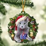 Russian Blue Christmas Gift Acrylic Ornament