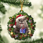 Otters Christmas Gift Acrylic Ornament
