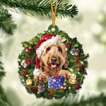 Goldendoodle Christmas Gift Acrylic Ornament
