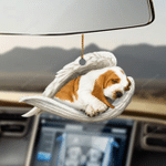 Basset hound sleeping angel basset hound lovers dog lovers ornament
