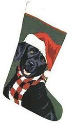 Black Labrador Retriever Christmas Stocking
