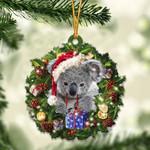 Koala Christmas Gift Acrylic Ornament