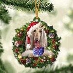 Afghan Hound Christmas Gift Afghan Acrylic Ornament