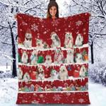Old English Sheepdog - Christmas Blanket