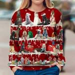 Afghan Hound - Snow Christmas - Premium Sweatshirt