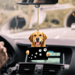 Golden Retriever Fly With Bubbles Hanging Ornament-2D Effect