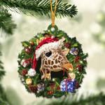 Giraffe Christmas Gift Acrylic Ornament