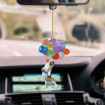 Corgi Dog Fly With Bubbles Car Hanging Ornament-2D Effect