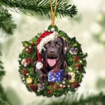 Chocolate Labrador Retriever Christmas Gift Acrylic Ornament