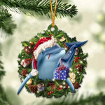 Dolphin Christmas Gift Acrylic Ornament