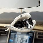 Border collie sleeping angel border collie lovers dog moms ornament