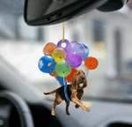Bloodhound Fly With Bubbles Dog Hanging Ornament-Flat 2D Effect