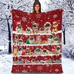 Pekingese - Christmas Blanket