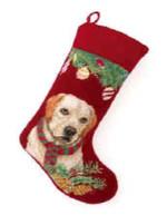 Yellow Labrador Retriever Christmas Stockings